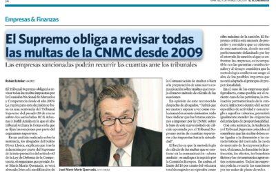 Todas las multas de la  CNMC desde 2009 son nulas de pleno derecho